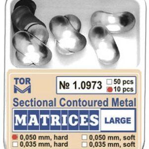 TOR szekcionált fém matrica, nagy 50mic. kemény 10 db 1.0973