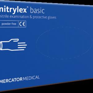 Gumikesztyű MERCATOR Nitrylex Basic Nitril dark blue L 100db