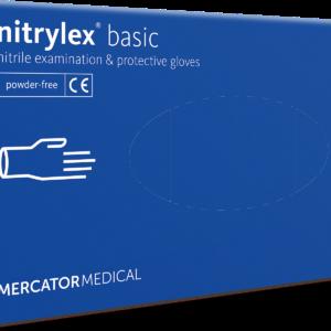 Gumikesztyű MERCATOR Nitrylex Basic Nitril dark blue M 100db